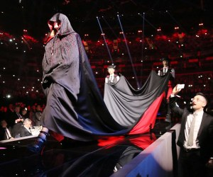 Madonna on stage at the 2015 BRIT Awards with Mastercard, held at the O2 Arena in London, Wednesday, 25 February, 2015. Photo by John Marshall/JM Enternational
